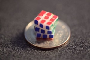This cube is less than a quarter!